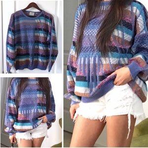 Vintage Grandpa Sweater Crew Coogi Inspired Medium